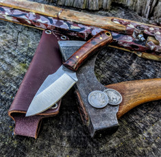 L.T. Wright Handcrafted Knives - Great Plainsman -  Saber Grind - Desert Iron Wood - 2