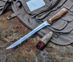 Hess Knifeworks - Mackanaw Fillet Knife - Polished Natural Micarta
