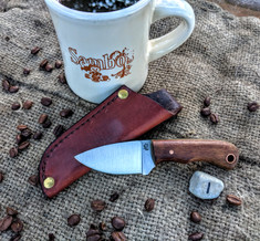 LT Wright  Handcrafted Knives - Buckeye -  Koa Wood w/Yellow Liners -1 - Flat Grind - D2 Tool Steel - NEW JSR Exclusive!