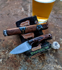 LT Wright  Handcrafted Knives - Buckeye - Desert Ironwood w/Black Liners -D- Flat Grind - D2 Tool Steel - NEW JSR Exclusive!