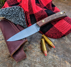 LT Wright Handcrafted Knives -  Large Workhorse - Raffir Planton Handles w/Black Liners - Flat Grind - D2 Tool Steel - NEW