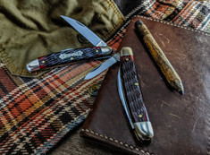 Great Eastern Cutlery -Tidioute -   Easy Pocket Congress - Blood Red Jig Bone Handles