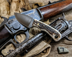 LT Wright  Handcrafted Knives - Buckeye - Sambar Stag w/Black Liners -7 - Flat Grind - D2 Tool Steel - NEW JSR Exclusive!
