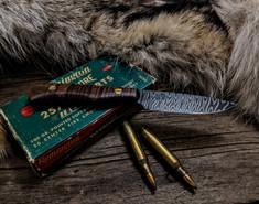 Tanyard Forge - Hunter  - Curly Koa Wood - 1  - 50 Layer Twist Damascus Steel Blade - NEW MODEL!