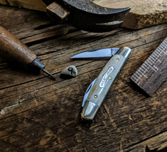 Great Eastern Cutlery - Tidioute -   Pocket Carver  - Smooth White Bone  Handles - 9 - NEW