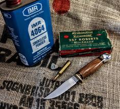 Hess Knifeworks - Whitetail  -  Rosewood Handles - 1  - Aluminum Pommel