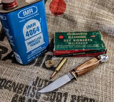Hess Knifeworks - Whitetail  -  Rosewood Handles - 2  - Aluminum Pommel