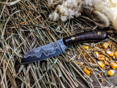 Tanyard Forge - Sheepsfoot  - Ringed Gidgee Wood  - San Mai Steel Blade  - NEW MODEL!