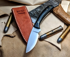 Hess Knifeworks - Caper - Black  Micarta Handles