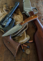 Battle  Horse - Bronco 2   -  Desert Ironwood w/Thin White Liners -2 - Saber Grind - 01 Tool Steel - NEW