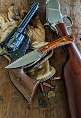 Battle  Horse - Bronco 2   -  Desert Ironwood w/Thin White Liners -4 - Saber Grind - 01 Tool Steel - NEW