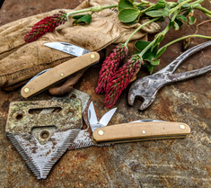 Great Eastern Cutlery  Farm and Field  Pocket Carver  - Muslin Micarta Handles  - NEW