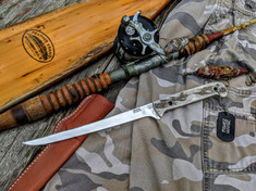 3DK Anchorage Knives  - Fisher - Moose Antler Handles - 1