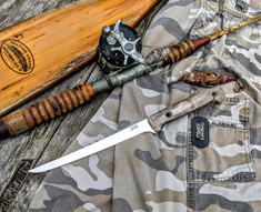3DK Anchorage Knives  - Fisher - Caribou Antler Handles - 1