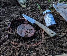 Battle Horse Knives  - Birch River   - Green Canvas Micarta  - Flat Grind - 01 Tool Steel - NEW