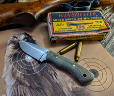 Battle Horse Knives  - Slug  - Green Bead Blasted Micarta - Saber Grind - New Arrival