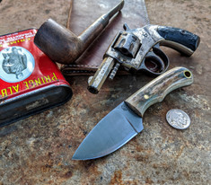 LT Wright  Handcrafted Knives - Buckeye - American Elk w/Black Liners - 5 - Flat Grind - D2 Tool Steel - NEW JSR Exclusive!