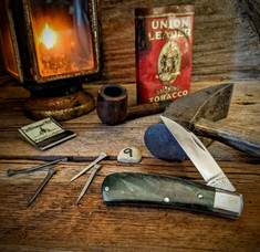 Tuna Valley Cutlery Co.  - Phoenix Jack  - Green Maple Burl Wood Handles - 9 - 154 CM Steel Blade - NEW RELEASE!!