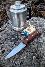 LT Wright Handcrafted Knives  - GNS  - Burlap Micarta - Matte Finish - 3V Steel - Saber Grind -  NEW