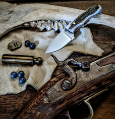 LT Wright  Handcrafted Knives - Buckeye - American Elk w/Black Liners - 11 - Flat Grind - D2 Tool Steel - NEW JSR Exclusive!