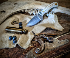 LT Wright  Handcrafted Knives - Buckeye - American Elk w/Black Liners - 13 - Flat Grind - D2 Tool Steel - NEW JSR Exclusive!