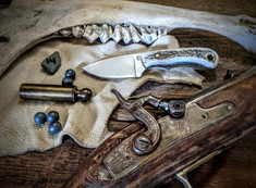 LT Wright  Handcrafted Knives - Buckeye - American Elk w/Black Liners - 14 - Flat Grind - D2 Tool Steel - NEW JSR Exclusive!