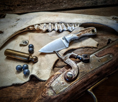 LT Wright  Handcrafted Knives - Buckeye - American Elk w/Black Liners - 18 - Flat Grind - D2 Tool Steel - NEW JSR Exclusive!