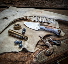 LT Wright  Handcrafted Knives - Buckeye - American Elk w/Black Liners - 20 - Flat Grind - D2 Tool Steel - NEW JSR Exclusive!