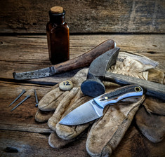 LT Wright  Handcrafted Knives - Buckeye - Sambar Stag w/Black Liners -12 - Flat Grind - D2 Tool Steel - NEW JSR Exclusive!