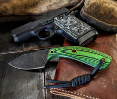 Smith & Sons Knife Company - APEX - Toxic Green/Black G10 Handles - Darkened/Stonewashed D2 Steel Blade - NEW