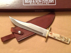Bear and Son - Frontier Bowie - India Stag Bone