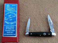 Queen Cutlery  - Small Sleeve Board  - Smooth Feathered Black Buffalo Horn