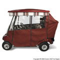 Elite Premium Burgundy Golf Cart Enclosure System