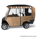 Elite Premium Tan Golf Cart Enclosure System