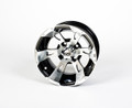 ITP 12x7 Machined Wheel with Black Rim