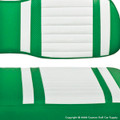 Lime Green & White Seat Covers