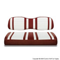 Burgundy and White Seat Covers