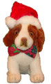 Holiday Plush Pup - Hat and Bowtie