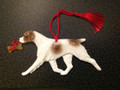 Brittany Ornament - Liver/White