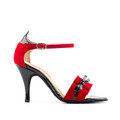 Red Suede,Black Patent Latin/Tango dance shoe made by Paoul manufacture's.