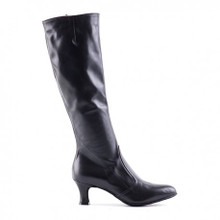 A unique boot for dancing.Design to be extremely flexible can be used for both  smooth and Latin dancing.Made from  very soft leather with a dancing suede sole. 2.5 inch heel,