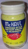 MCKAY'S CHICKEN SEASONING W/MSG  7 oz.