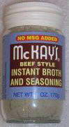 MCKAY'S BEEF SEASONING NO MSG 12 oz.