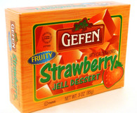 GEFEN STRAWBERRY JELLO, 3 oz. PK