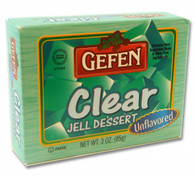 GEFEN CLEAR UNFLAVORED JELLO, 3 oz. PK