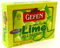 GEFEN LIME JELLO, 3 oz. PK