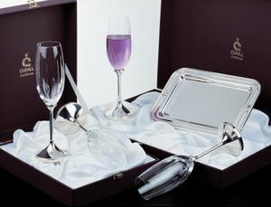 Genesis Champagne Goblet Set #2 - Sterling