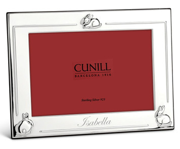 CUNILL Silver Plated 3 Bunnies 4x6 Picture Frame