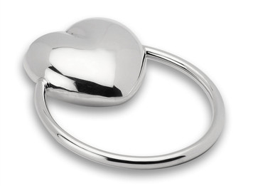 CUNILL Sterling Silver Ring Heart Baby Rattle