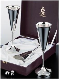 Genesis Champagne Goblet Set #1 - Sterling